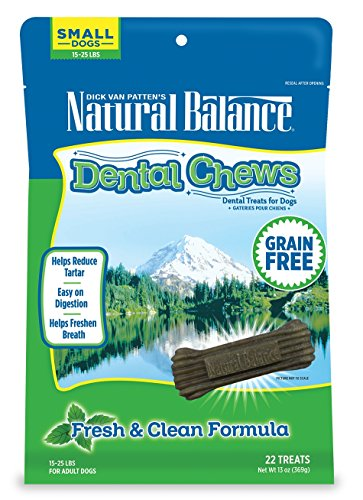 (Natural Balance Dental Chews Dog Treats, Fresh & Clean Formula, Grain Free, for Small Dogs,)