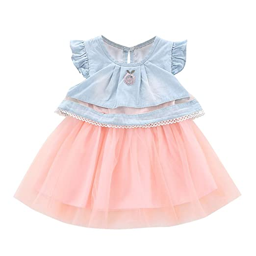 7ad135c77222c Amazon.com: Lurryly Infant Baby Girl Fruits Embroidered Tulle Dress ...