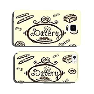 bakery set elements chalkboard, vector. cell phone cover case iPhone6 Plus