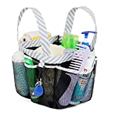 Mesh Shower Caddy Tote, Large College Dorm Bathroom Caddy Organizer with Key Hook and 2 Oxford Handles, Quick Hold, 8 Basket Pockets