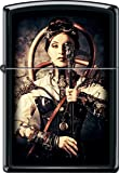 Zippo Steampunk Woman Gun Black Matte Windproof Lighter