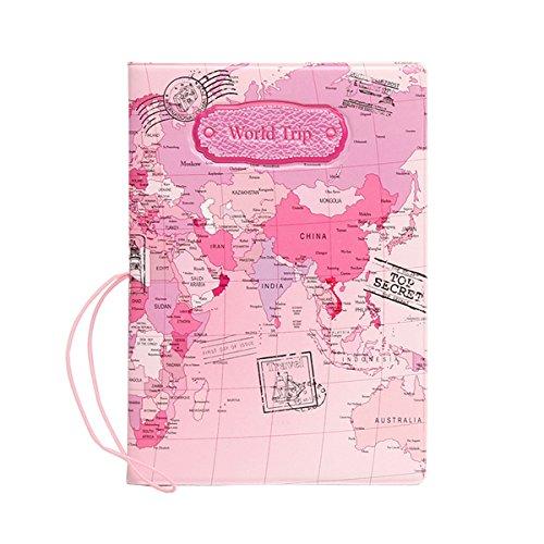 Per Passaporto Portafogli Protettiva Biglietti Baigio Cover Porta Aerei Copertina Carrierrosa E rosa 29IYHeWDEb