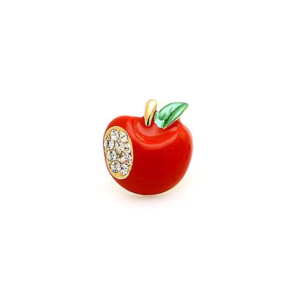 Pour femmes Pin/'s pomme rouge en forme de c/œur serti de strass Fajewellery