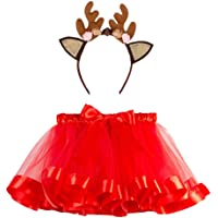 BBSMLIN Disfraces Navidad Niñas Tutu Falda + Diadema