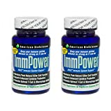 American BioSciences ImmPower AHCC Immune System Support – 30 Vegetarian Capsules (2-Pack)