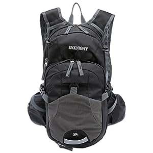 ENKNIGHT 20L Impermeable Mochila de Senderismo Paquete del Alpinismo ligero plegable resistente al agua mochila de viaje Escalada Marcha camping ciclismo Deporte Al Aire Libre negro