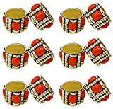 SKAVIJ Brass Gold Napkin Rings Set of 12 Round for Weddings Dinner Parties or Every Day Use