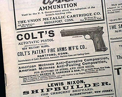 TOL Gun Advertisement 1903 Army Navy U.S. Military Newspaper ARMY & NAVY JOURNAL, New York, Jan. 10, 1903 ()