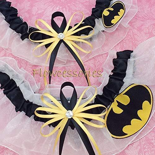 Pick Charm BATMAN handmade bridal wedding garter toss