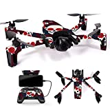 MightySkins Skin for Parrot Anafi Drone – Skulls N Roses   Protective, Durable, and Unique Vinyl Decal wrap Cover   Easy to Apply, Remove, and Change Styles   Made in The USA For Sale