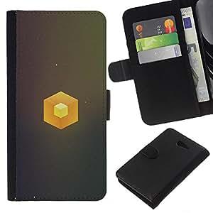 YiPhone /// Tirón de la caja Cartera de cuero con ranuras para tarjetas - Cubo simple - Sony Xperia M2