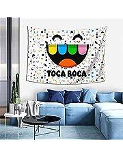 DJNGN Toca Boca wandtapijt, wanddecoratie, poster wanddecoratie, wanddecoratie, voor slaapkamer, woonkamer, slaapzaal, 60 x 40 inch