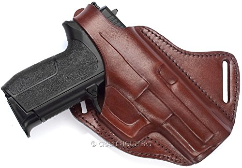 Glock 19 Cross Draw Leather Gun Holster