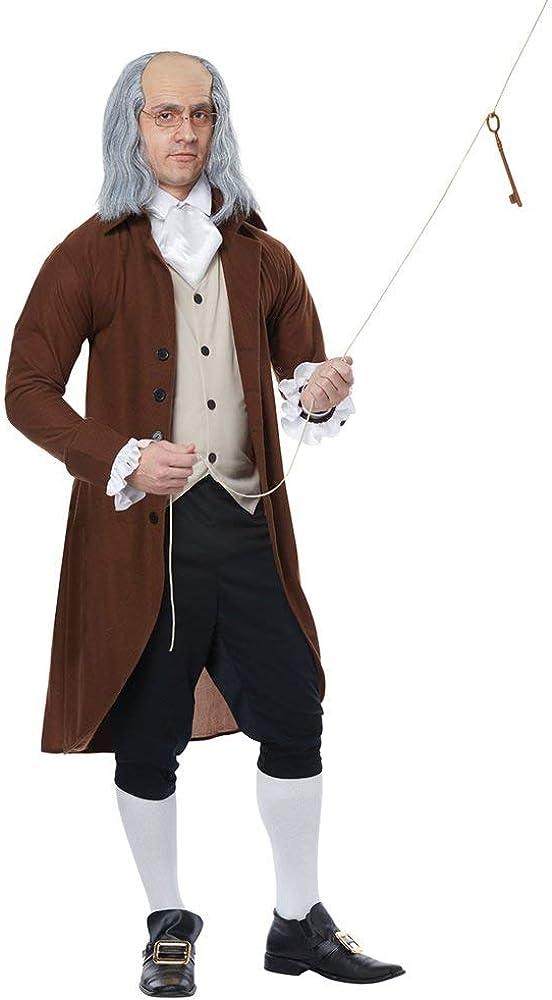 California Costumes Benjamin Franklin Adult Costume- Brown/Black