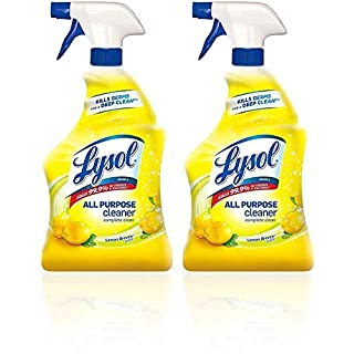 Lysol All Purpose Cleaner, Lemon Breeze, 32 Oz (Pack of 2)