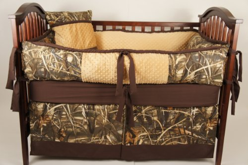 Custom Made Baby Crib Nursery Bedding Max 4 Camo , Duck Hunting Camo