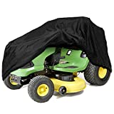 IZTOSS Riding Lawn Mower Tractor Cover Fits Decks up to 54'' - Black - Water, Mildew, and UV Resistant Storage Cover