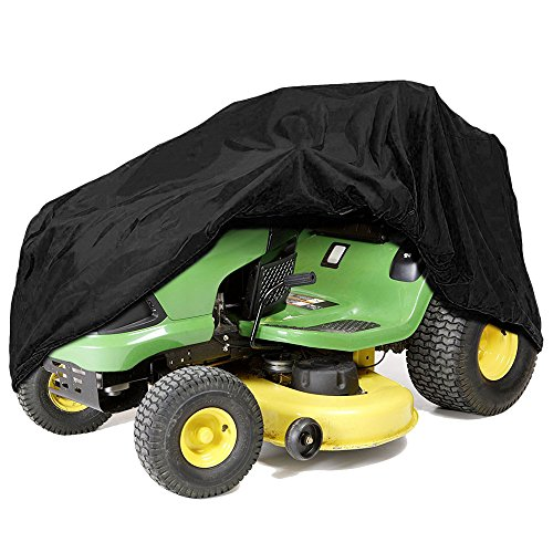 IZTOSS Riding Lawn Mower Tractor Cover Fits Decks up to 54'' - Black - Water, Mildew, and UV Resistant Storage Cover by IZTOSS