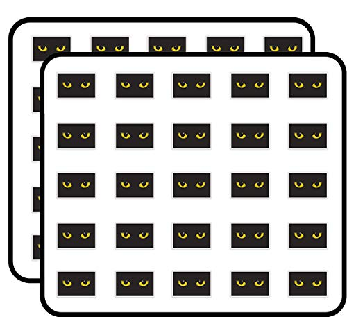 Cats Eyes Vinyl Stickers Scary Halloween Decoration Sticker for Scrapbooking, Calendars, Arts, Kids DIY Crafts, Album, Bullet Journals 50 Pack]()