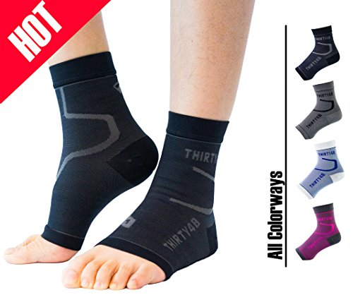 Thirty48 Plantar Fasciitis Socks, 20-30 mmHg Foot Compression Sleeves for Ankle/Heel Support, Increasing Blood Circulation, Relieving Arch Pain, Reducing Foot -