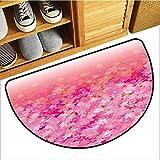 Axbkl Door mat Light Pink Cherry Blossom Tree Flowers in Vibrant Tones Spring