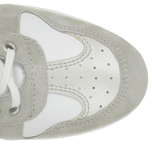 Ninette en Fleur - Zapatillas de deporte de cuero para niña Blanco (Blanc (F))