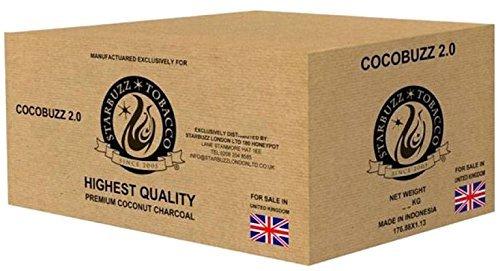 Starbuzz CocoBuzz 2.0Lounge Pack 10kg Coconut Naturkohle Kohle für Shisha Wasserpfeife