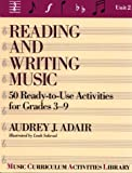 Reading and Writing Music, Audrey J. Adair-Hauser, 0137621965
