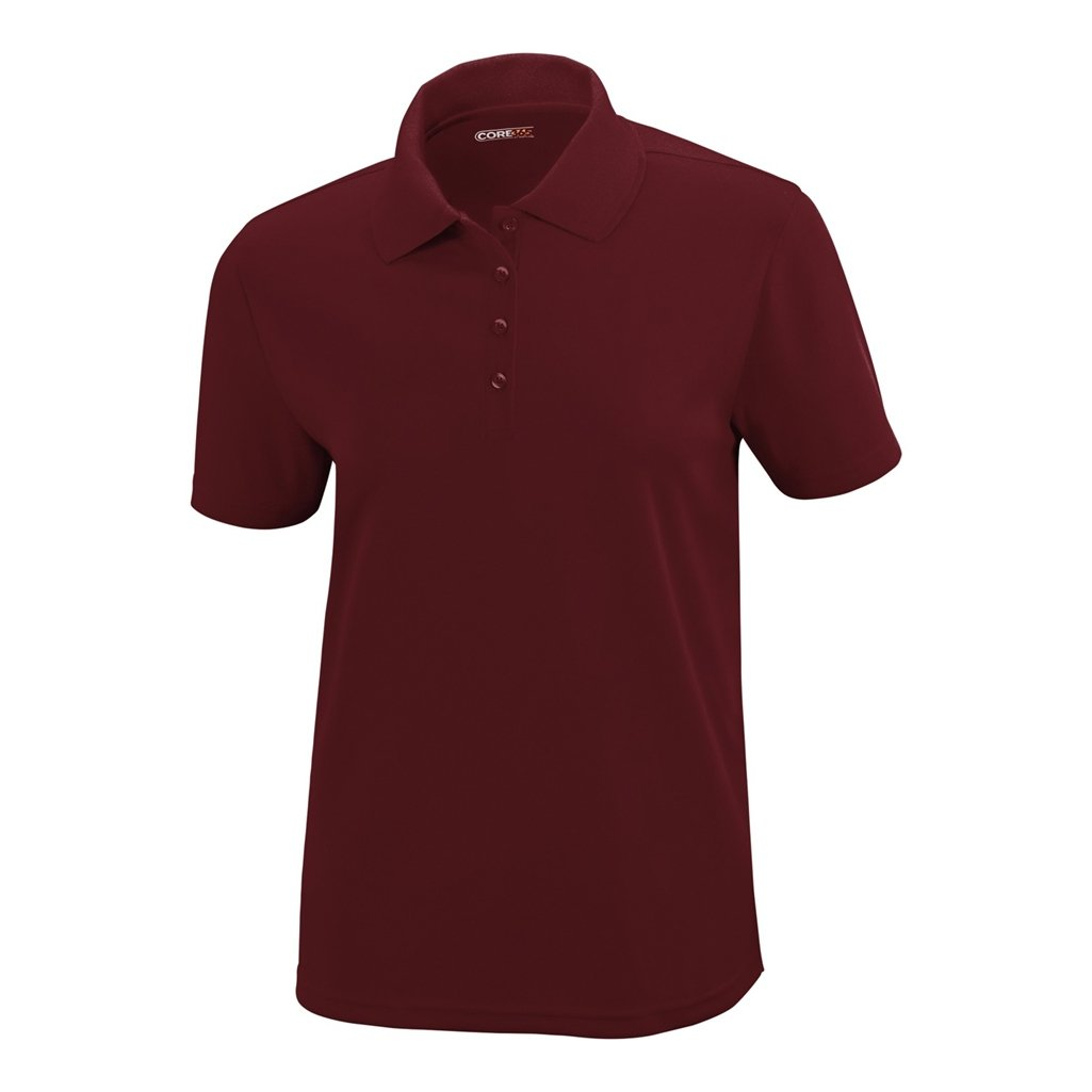 Ash City Ladies Origin Core 365 Performance Polo (X-Small, Burgundy)