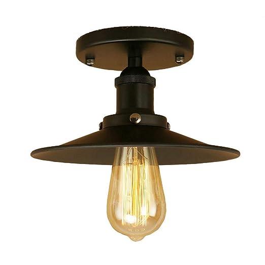 KY LEE Retro Vintage Industrial Flush Mount Ceiling Light ...