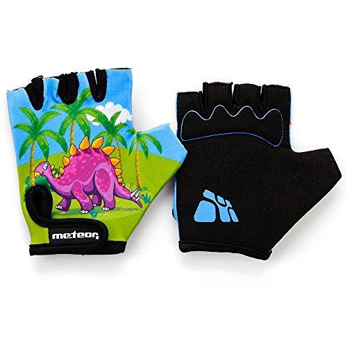 meteor® Gants de cyclisme pour enfant avec courte moitié doigts Velcro enfant Kid enfant pour vélo de sécurité Accessoires à la main protéger Meteor enfants