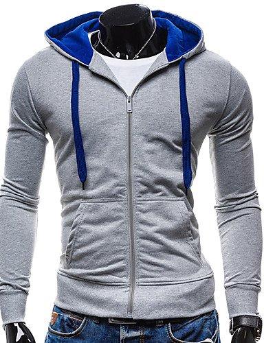 Männer täglich Hoodie Solide runden Ausschnitt strenchy Baumwolle Langarm