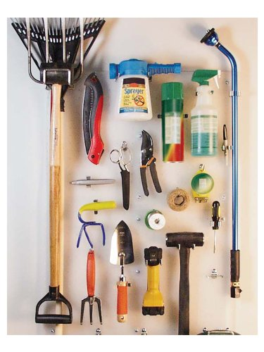 Triton Products 018-Kit DuraBoard 2)  22 Inch W x 18 Inch H x 1/8 Inch D White Polypropylene Pegboards with 22 pc. DuraHook Assortment and Wall Mounting Hardware by Triton 2 (Image #5)