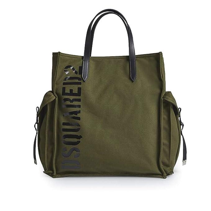 c74585d6f DSQUARED2 Accesorios de Mujer Bolso Ryan Canvas Militar Spring Summer 2019:  Amazon.es: Ropa y accesorios