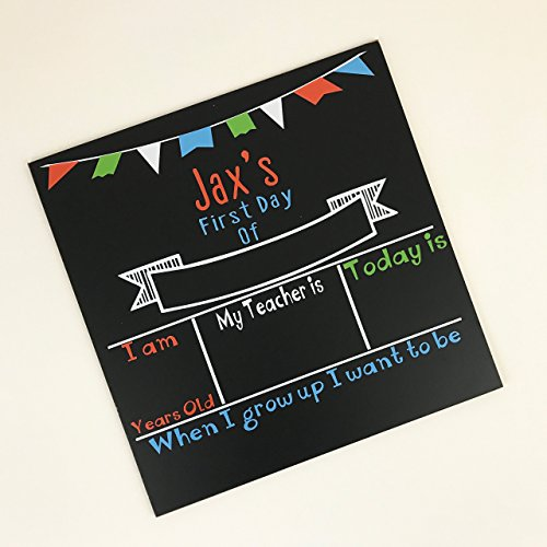 Personalized First Day of School Chalkboard-