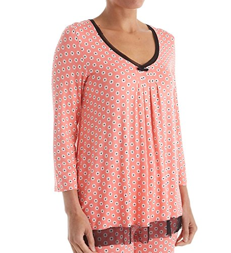 Ellen Tracy Autumn Air 3/4 Sleeve Top (8418434) S/Mini Medallion