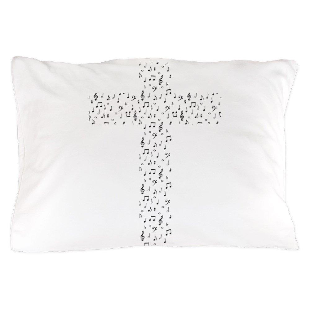 CafePress - Music Cross - Standard Size Pillow Case, 20''x30'' Pillow Cover, Unique Pillow Slip