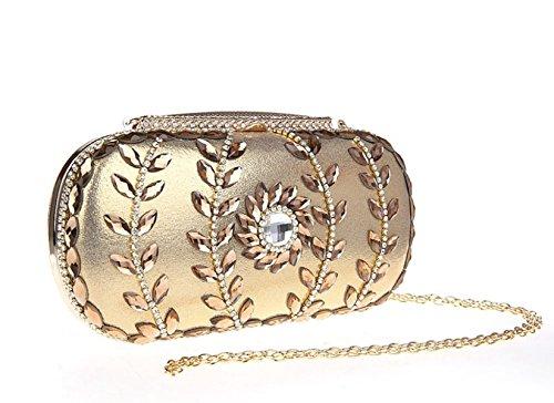 De Gold Sac De D'embrayage Mariage Sacs Sacs Sacs Gold Soirée GSHGA à Sacs De Mariée Femmes Diamant Main 8O6xTnW