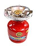 Shanta Trader 23168123 Portable LPG Gas Cylinder with Single Burner Mini 2kg Red Color Perfect for Outdoor, Picnic,Camping,Traveling(Red)