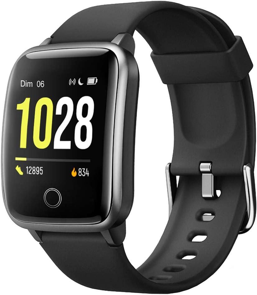 Willful Montre Connectée Femmes Homme Smartwatch Montre Sport Podometre Cardiofrequencemètre Montre Intelligente Etanche Chronometre Alarme GPS Partagé 11 Modes Sport pour iPhone Android Telephone