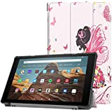 Happy-L Case New PU Leather Trifold Stand Cover with Auto Wake/Sleep - Fits All-New Amazon Fire HD 10 Tablet (7th…