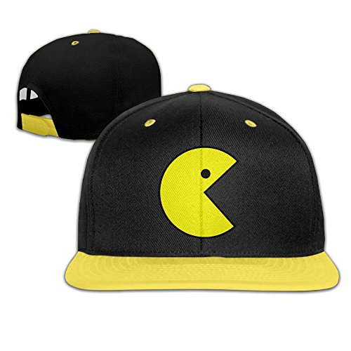 [Harriy Pac Men Sunbonnet Hat Adjustable Flat Bill Hat Yellow] (Doctor Barbie Costume)