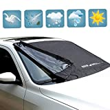 Automotive : KDL Windshield Snow Covers Oxford Cloth Windshield Sun Snow Cover Fits Most Cars,CRVs And SUVs-M