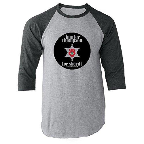 Hunter S. Thompson for Sheriff Gray XL Raglan Baseball Tee