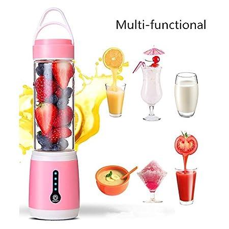 Wiiguda@ Mini Batidora Portátil, Licuadora para fruta, Recargable Juice Blender con USB, Batidora de Vaso Portátil Exprimidor Eléctrico Mini para Naranja ...