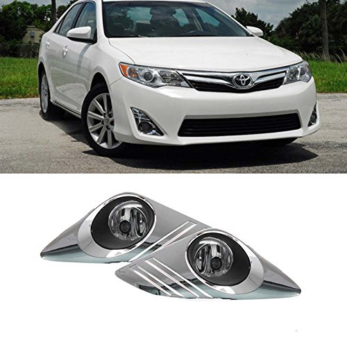 Jdm Wiring - Mifeier FIT:12-15 Camry JDM Clear Lens Chrome Cover Driving Fog Lights+Bulbs+Switch+Wiring