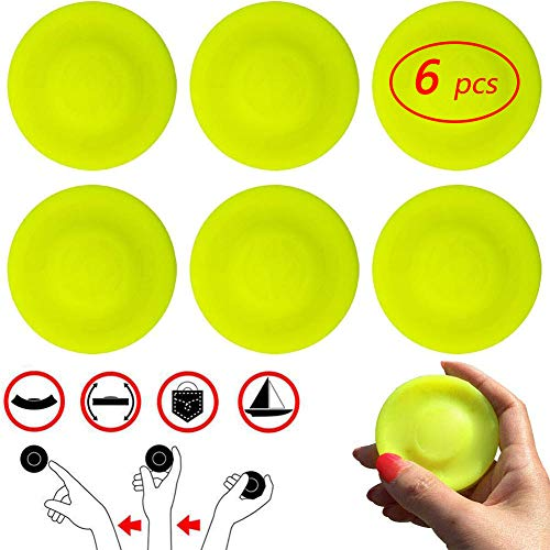 EANUR Zip Chip Mini Pocket Frisbee 6pcs Flexible Soft New Spin in Catching Game Flying Disc Catching Game Beach Outdoor Toys (Best Disc Golf Courses In The Us)
