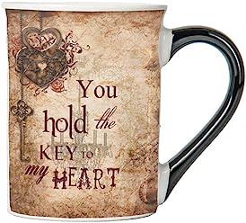 You Hold The Key To My Heart Mug, Vintage Coffee Cup, Ceramic Vintage Mug, Vintage Gifts By Tumbleweed