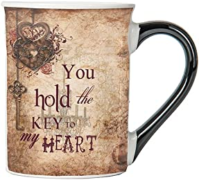 You Hold The Key To My Heart Mug, Vintage Coffee Cup, Ceramic Vintage Mug, Vintage Gifts By Tumbleweed