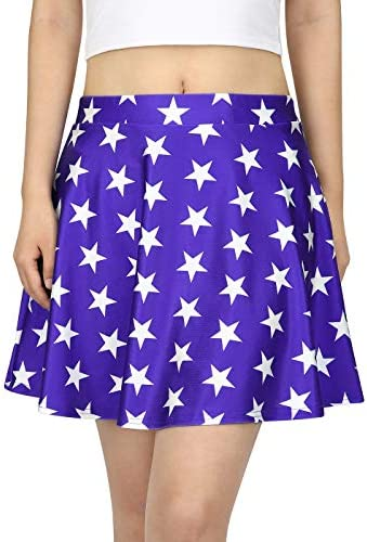 HDE Womens Plus Size Shorts Patterned Casual Pull On Elastic Waist Dress Shorts